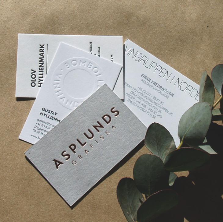 Visitkort i tryckpress
