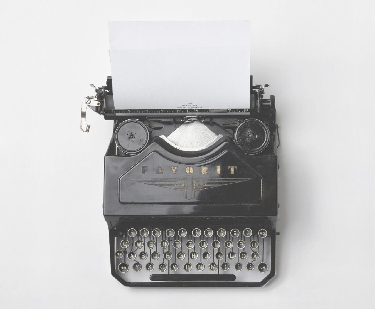 Vi skriver skrivmaskin