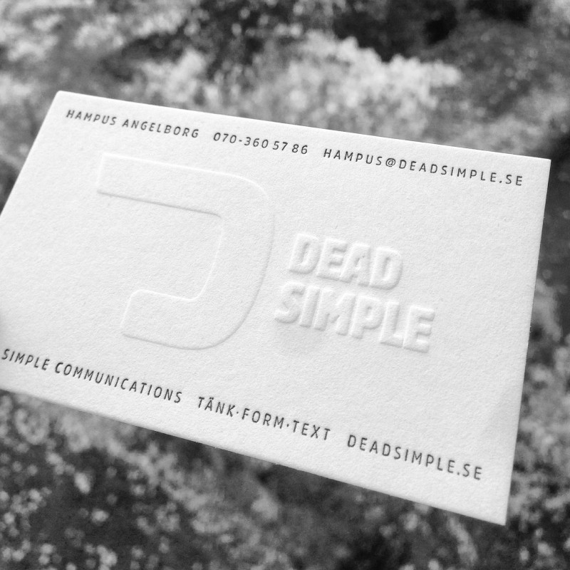Visitkort Dead Simple